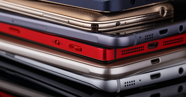 A stack of mobile devices: endpoint management