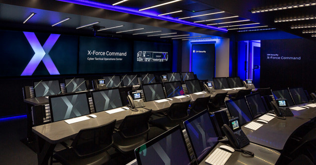 IBM Security's cyberthreat training facility, the Cyber Tactical Operations Center (C-TOC).
