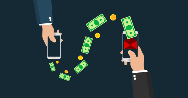 Illustrations of financial transactions via smartphone: network fraud