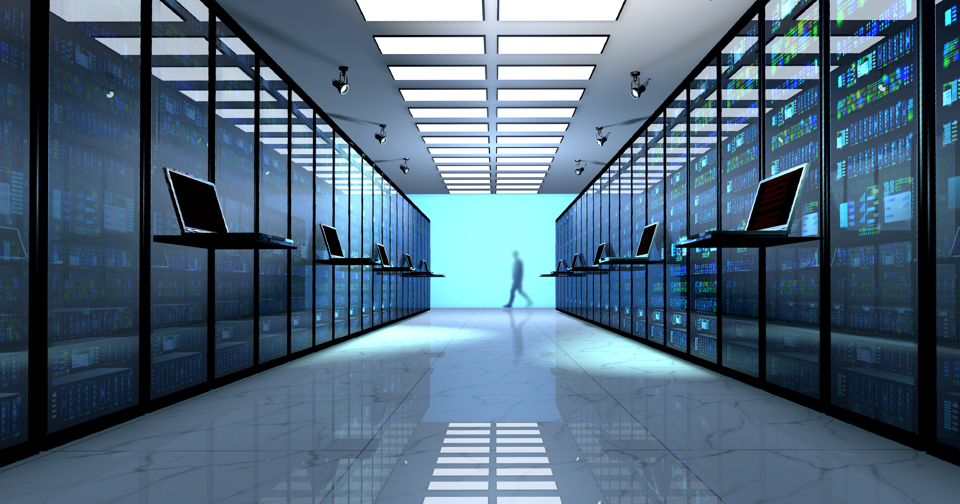 Server room in a data center: continuous compliance