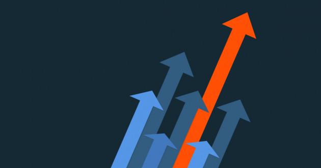 Illustration of arrows pointing upward: SIEM platform