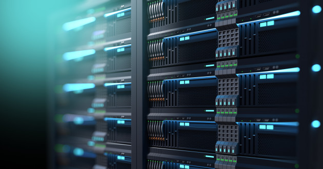 Network servers in a data center: cloud security