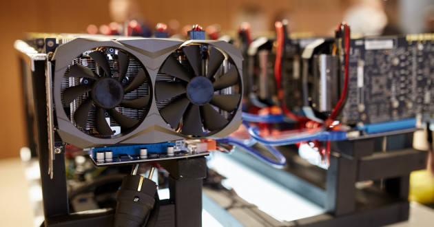 GPU cards being used for a cryptomining campaign.