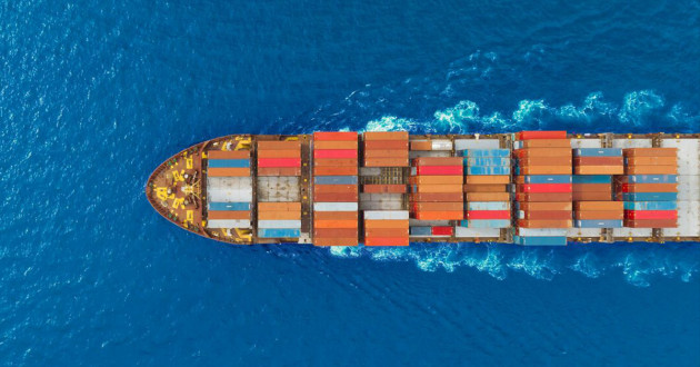 A ship carrying cargo: digital transformation