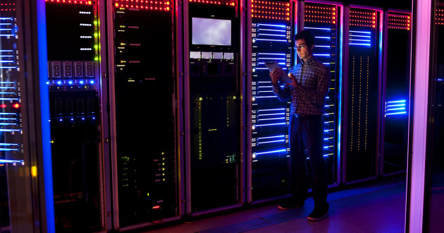 IT Staff In A Data Center Tasked With Data Protection