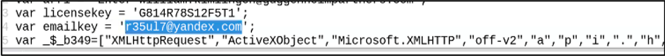 Actor-owned email account embedded in the HTML